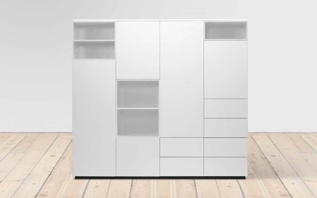 voice arctic cube schrank 180 cm breit 5 schubladen. Black Bedroom Furniture Sets. Home Design Ideas