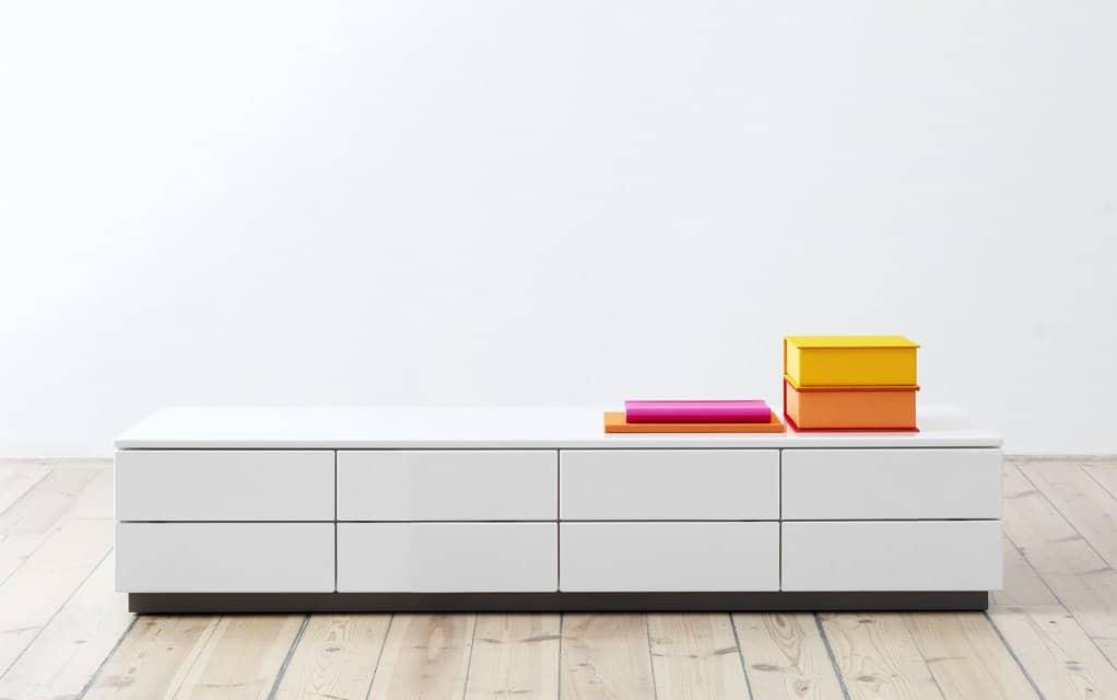 voice arctic lowboard 240 cm breit mit 8 schubladen. Black Bedroom Furniture Sets. Home Design Ideas
