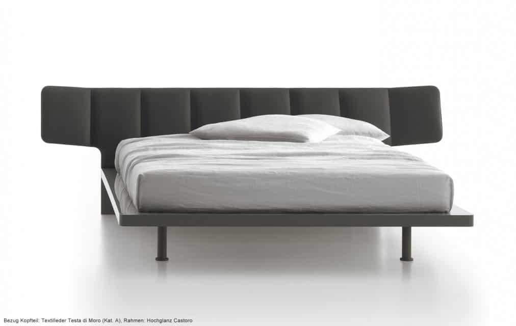 hochglanz designer holzbett wide. Black Bedroom Furniture Sets. Home Design Ideas