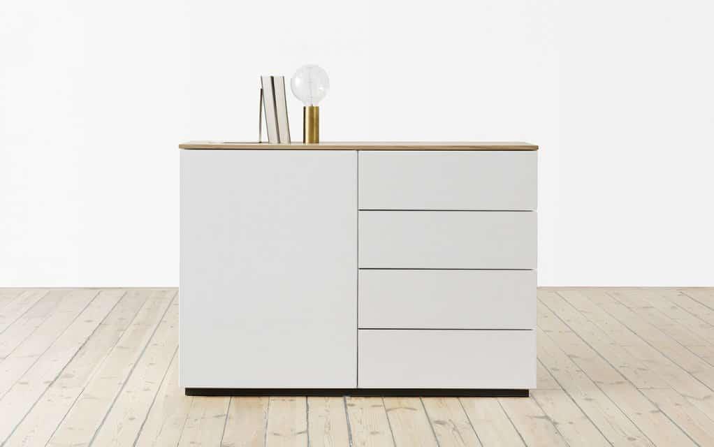 voice arctic sideboard 120 cm breit mit 4 schubladen. Black Bedroom Furniture Sets. Home Design Ideas