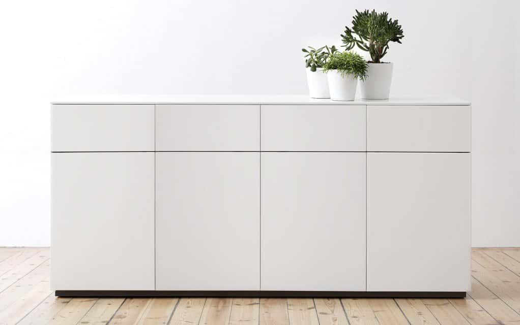 voice arctic sideboard 180 cm breit mit 4 schubladen. Black Bedroom Furniture Sets. Home Design Ideas
