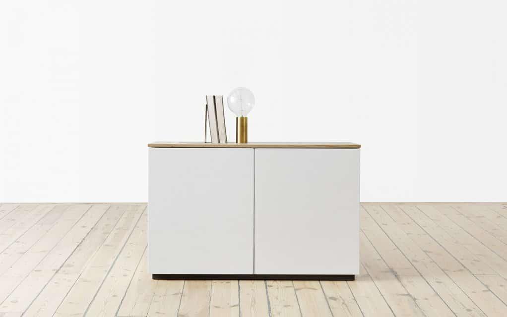 arctic sideboard 90 cm mit 2 t ren. Black Bedroom Furniture Sets. Home Design Ideas