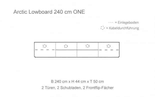 Skizze mit 2 Frontflip-Fächer