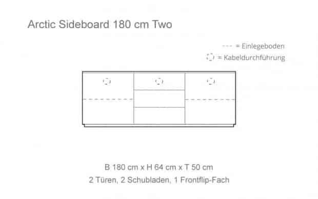 Skizze mit 1 Frontflip-Fach