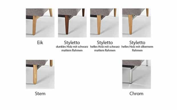 Ample Chair Ausführungen der Beine