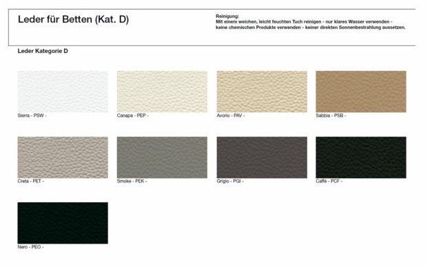 Farbmuster Echtleder