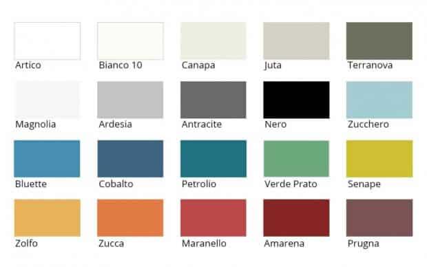 Farbausführungen lackiert