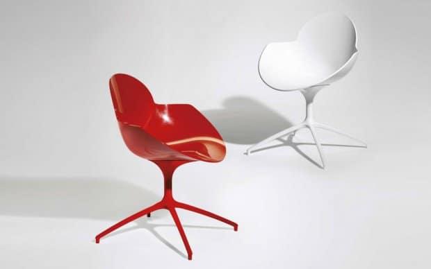 Infiniti Chair Cookie weiss und rot