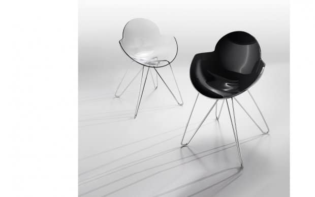Infiniti Chair Cookie transparent und schwarz mit Spidergestell
