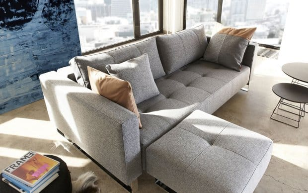 Innovation Schlafsofa Cassius mit Hocker