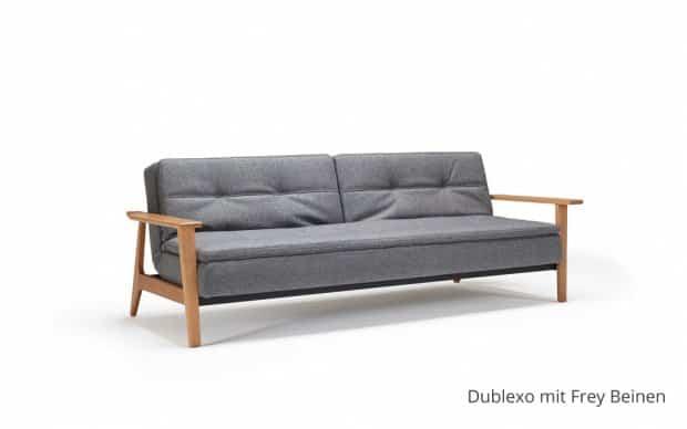 Innovation Schlafsofa Dublexo mit Frey Beinen
