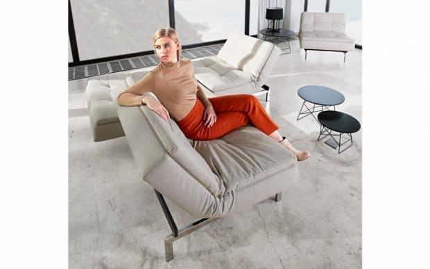 Innovation Schlafsofa Dublexo beige Showroom