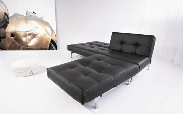 Splitback Chair schwarz Kunstleder
