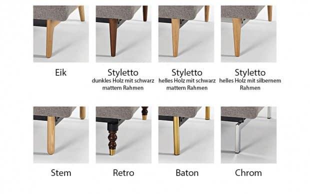 Splitback Chair Ausführungen der Beine