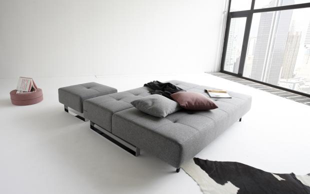 Innovation Sofa Supremax ausgeklappt mit Hocker