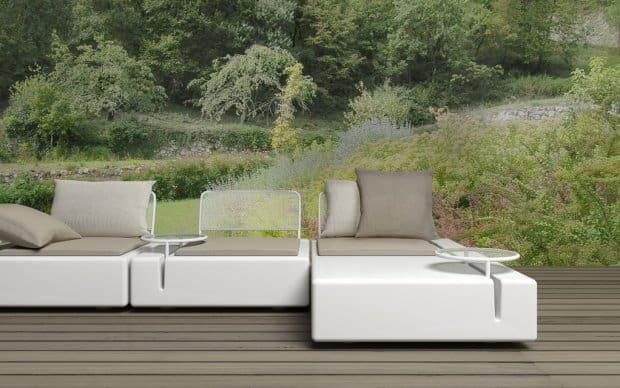 Vondom Kes Sofa Element 90x90 mit Element Rechts