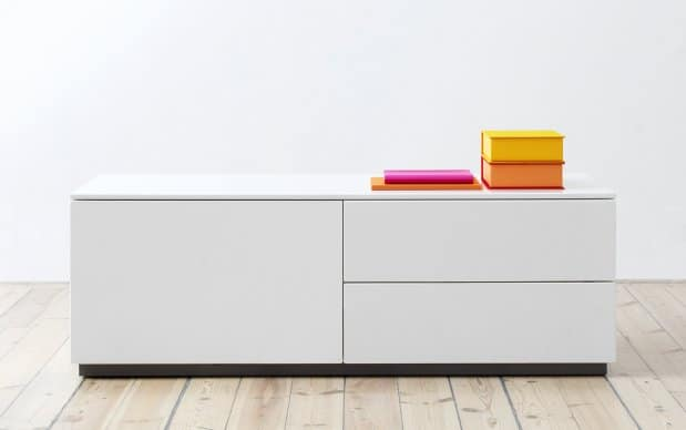 Voice Arctic Sideboard mit Schiebetür und 2 Schubladen rechts