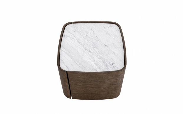 Nachttisch Norman mit Marmor Abdeckplatte