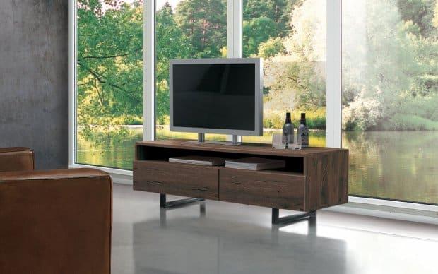 TV-Lowboard Quadra (Oliver-B-Casa) Ambiente mit Fernseher
