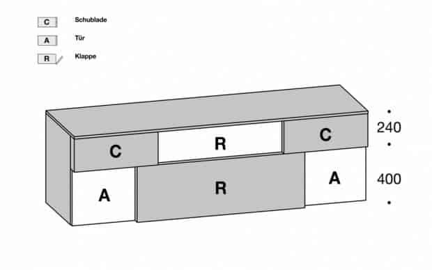 Sideboard Incontro 206 Skizze