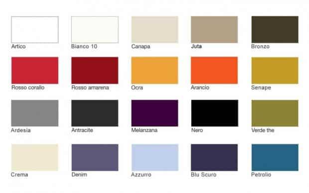 Farbmuster Lackfarben