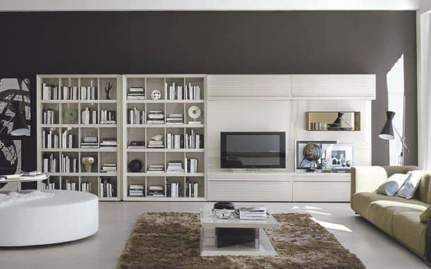 San Giacomo TV Wand Alfa 45 Comp 308 mit Bücherregal