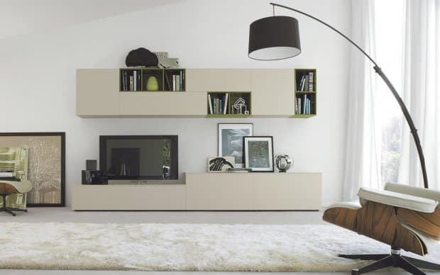 san giacomo design tv wohnwand lampo 56. Black Bedroom Furniture Sets. Home Design Ideas