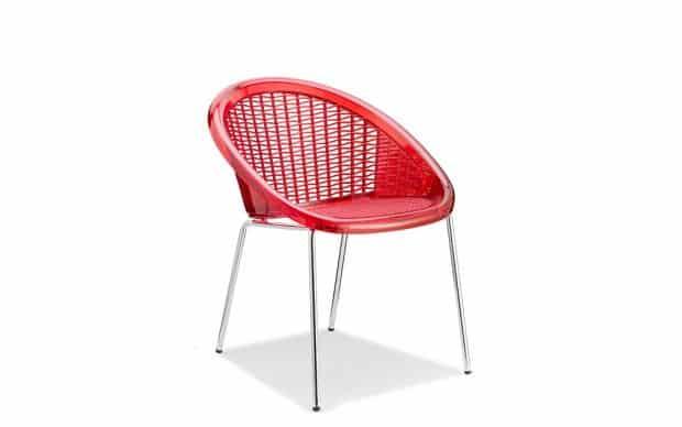 Scab Stuhl Saint Tropez 4 Beine rot