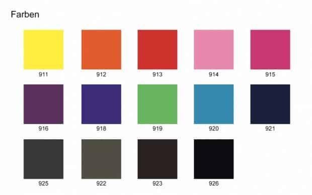Expandpouf Farben