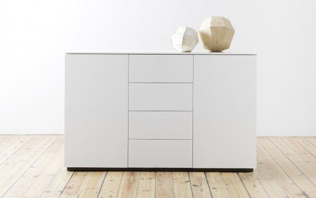 Arctic Sideboard 135 cm mit 4 Schubladen 2 Türen