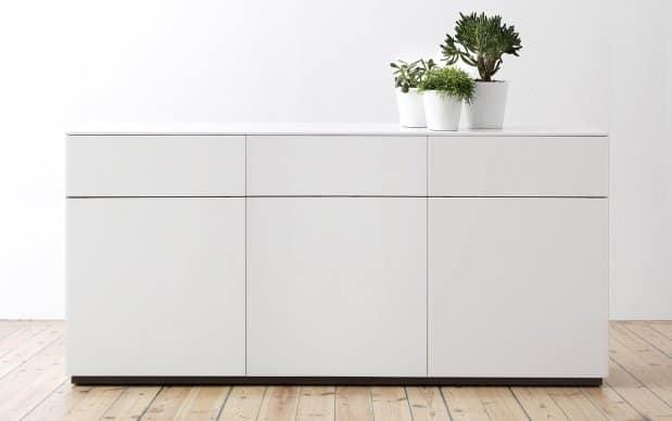 Arctic Sideboard 180 cm 3 Türen und Schubladen