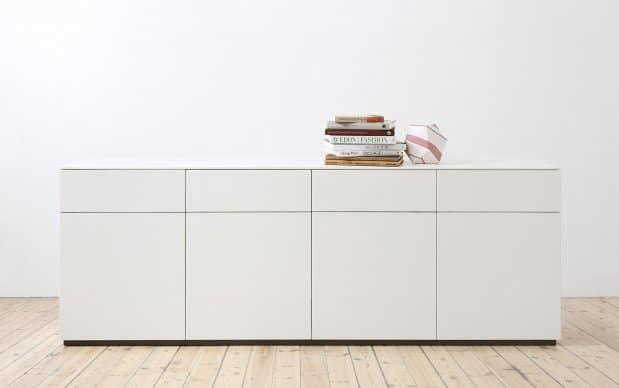 Voice Arctic Sideboard 240cm breit mit 4 Schubladen und 4 Türen