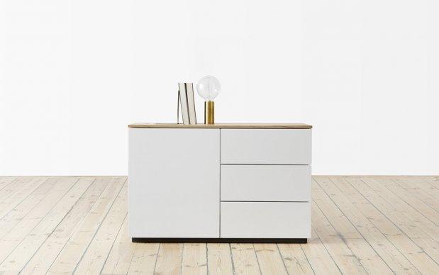 Voice Arctic Sideboard 1 Tür und 3 Schubladen rechts