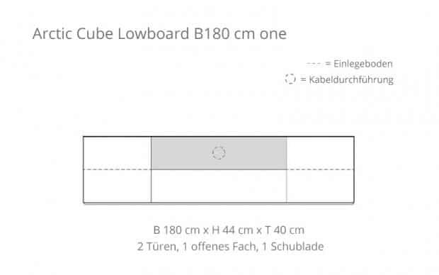 Voice Arctic Cube Lowboard B180 Skizze