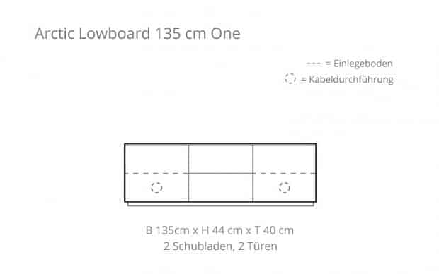 Arctic Lowboard 135 cm One (Voice) Skizze