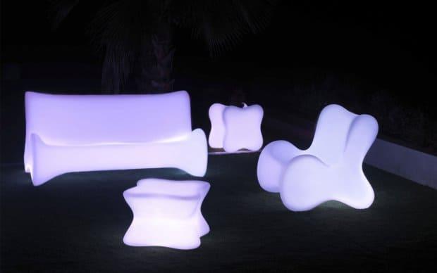 Doux Mesa Tisch (Vondom) mit LED Beleuchtung
