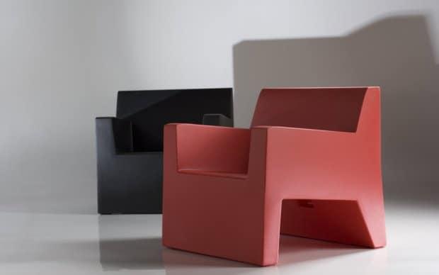 Vondom Jut Butaca Sessel rot schwarz