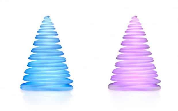 Vondom Chrismy Weihnachtsbaum blau violett beleuchtet