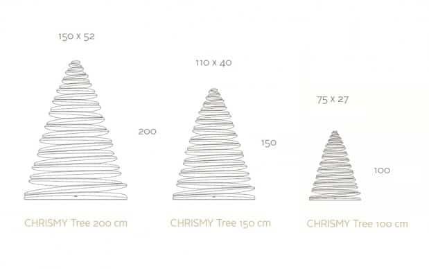 Vondom Chrismy Maße H 200, 150, 100 cm