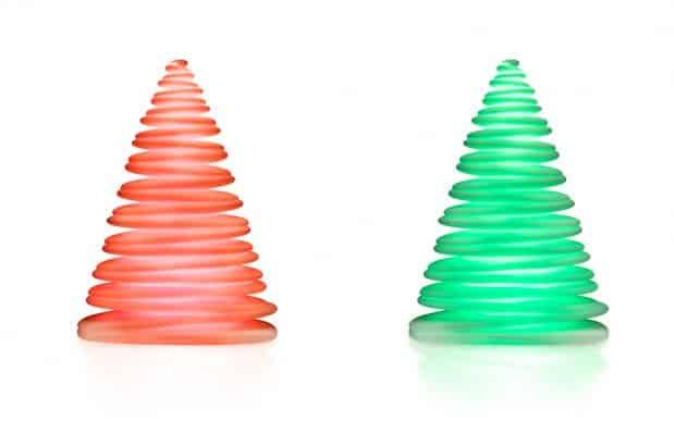 Vondom Chrismy Weihnachtsbaum rot grün beleuchtet