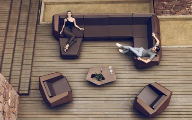 Vondom Faz Sofa Element Ecke 90° Rechts Links Mitte