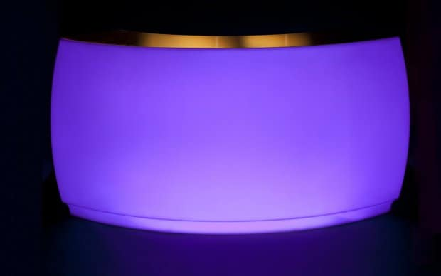 Vondom Fiesta Barra Curva violet LED