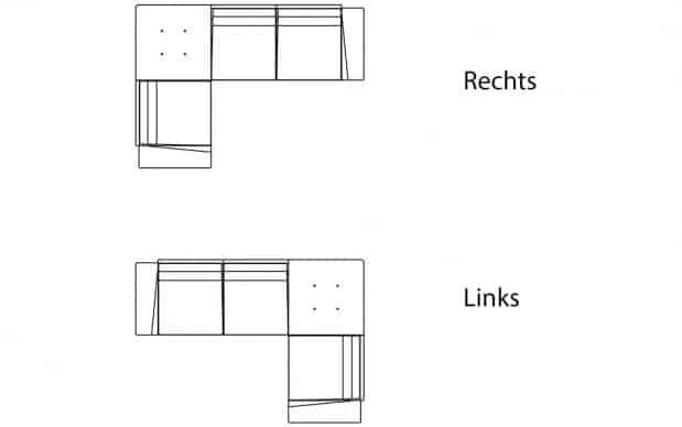 Vondom Flat C4 Sofa Ausrichtung
