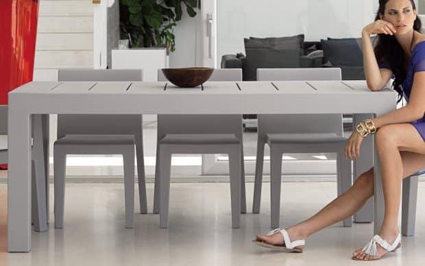Vondom Jut Mesa 180 Tisch grau