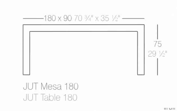 Vondom Jut Mesa 180 Tisch skizze