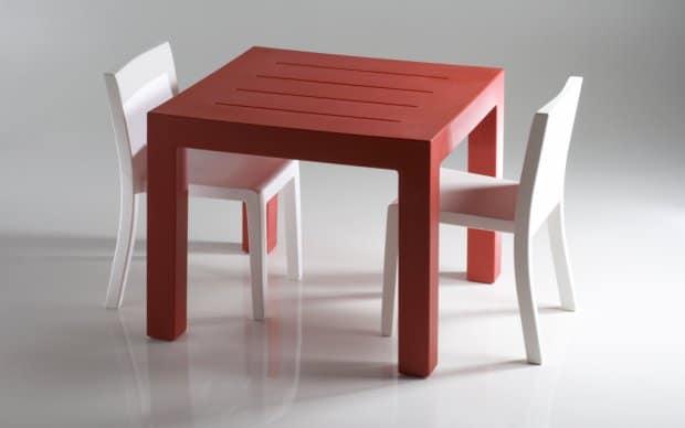 Vondom Jut Mesa 90 Tisch rot