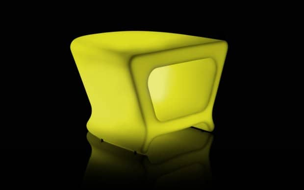 Vondom Pal Mesa Taburete Tisch Hocker LED gelb