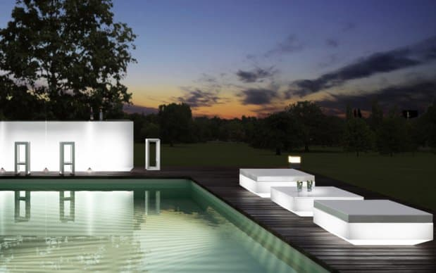 Vondom Vela Mesa Sofa Tisch Energiesparbeleuchtung