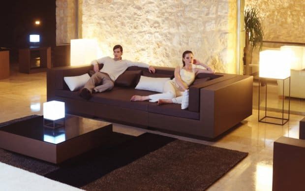 Vondom Vela Mesa Sofa Tisch Bronze