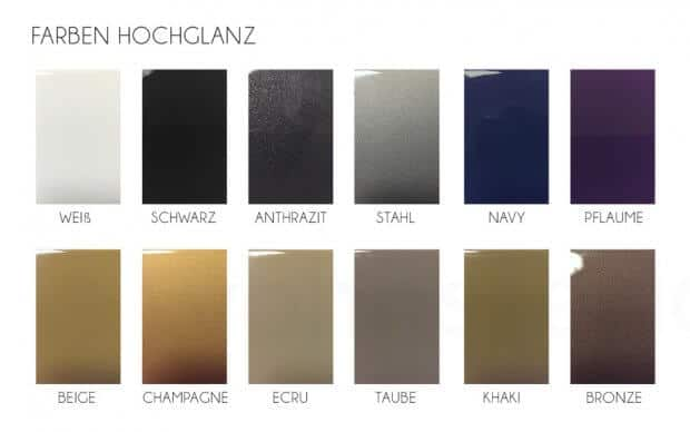 Faz Mesa Sofatisch Farben Hochglanz